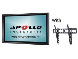 "Apollo Outdoor TV enclosure fit 39""-43"" Slim LED/LCD TV's.  Model AE4239-WM-NA-BL. Includes weatherproof Non-Articulating Wall Mount,  Black"