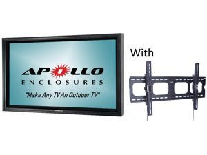 "Apollo Outdoor TV Enclosure fits 46""-50"" Slim LED/LCD TV's, Model AE5046-WM-NA-BL.  Includes weatherproof Non-Articulating Wall Mount,  Black"