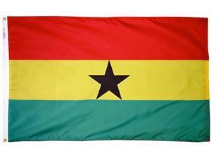 Ghana - 3'X5' Nylon Flag