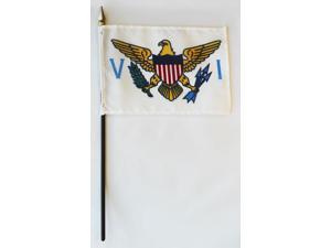 "US Virgin Islands - 4""X6"" Stick Flag"