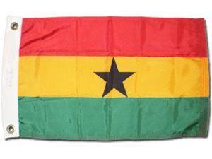 """Ghana - 12""""X18"""" Nylon Flag"""
