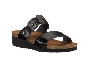 Naot 04906 Ashley Women's Sandals, Black Madras, 8 M US