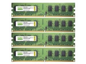 8GB (4x2GB) DDR2-800MHz PC2-6400 Non-ECC UDIMM 2Rx8 1.8V Unbuffered Memory for Desktop PC by NEMIX RAM