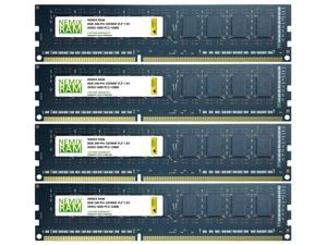 32GB Kit 4x8GB DDR3-1600 PC3-12800 VLP Desktop 2Rx8 Memory Module by Nemix Ram