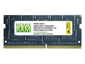 "8GB DDR4-2666MHz PC4-21300 SO-DIMM Memory for Apple 27"" iMac with Retina 5K Display Mid 2020 (iMac 20,1 iMac 20,2) by NEMIX RAM"