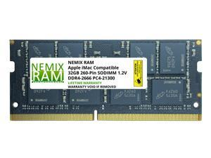 "32GB DDR4-2666MHz PC4-21300 SO-DIMM Memory for Apple 27"" iMac with Retina 5K Display Mid 2020 (iMac 20,1 iMac 20,2) by NEMIX RAM"