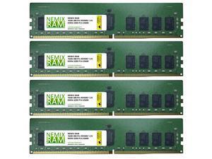 64GB 4x16GB DDR4-3200 PC4-25600 2Rx8 RDIMM ECC Registered Memory by Nemix Ram