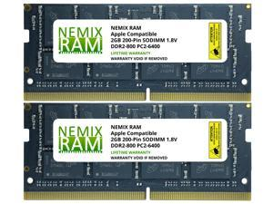 NEMIX RAM Compatible  for 4GB (2X2GB)DDR2 667MHz PC2-5300 SODIMM Memory Upgrade for Apple iMac 2007 2008
