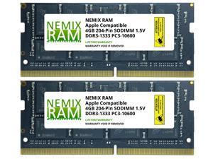 NEMIX RAM 8GB (2X4GB) DDR3 1333 PC3-10600 SODIMM Memory for Apple MacBook Pro 2011