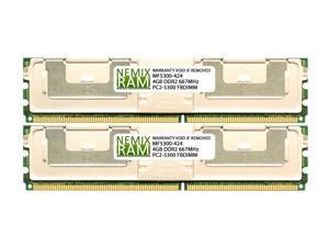 HP 397415-B21 8GB (2x4GB) DDR2 667 (PC2 5300) ECC Fully Buffered FBDIMM Memory by NEMIX RAM