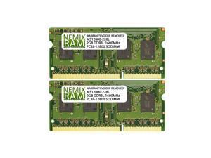 4GB (2x2GB) DDR3 1600 (PC3 12800) SODIMM Laptop Memory RAM