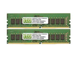 32GB (2x16GB) DDR4 2666 (PC4 21300) Desktop Memory Module
