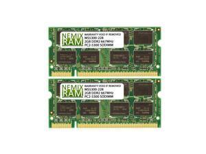 4GB (2x2GB) DDR2 667 (PC2 5300) SODIMM Laptop Memory RAM