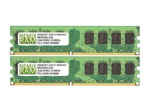 4GB (2x2GB) DDR2 533 (PC2 4200) Desktop Memory Module