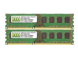 16GB (2x8GB) DDR3 1600 (PC3 12800) 1.5V Desktop PC UDIMM Memory