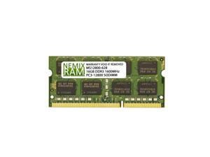 16GB (1x16GB) DDR3 1600 (PC3 12800) SODIMM Laptop Memory RAM