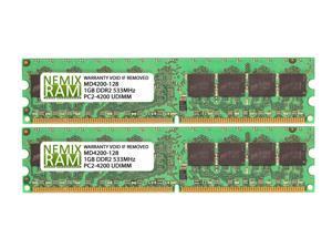 2GB (2x1GB) DDR2 533 (PC2 4200) Desktop Memory Module