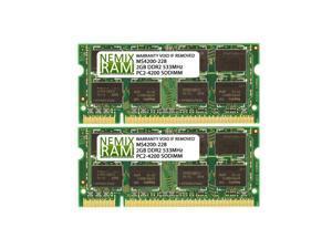 4GB (2x2GB) DDR2 533 (PC2 4200) SODIMM Laptop Memory RAM
