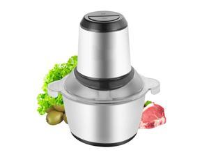 Two Files 110V 300W Household Electric Stainless Steel One-Button Meat Grinder / Mixer 2L 304 Stainless Steel Cup