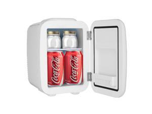 Mini Fridge Cooler and Warmer, (5Liter/6Can) Portable Compact Personal Fridge, AC/DC Thermoelectric System, 100% Freon-Free Eco Friendly for Home, Office and Car