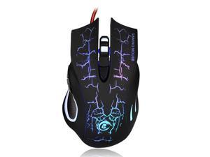 ELECSHELL RGB Gaming Mouse, Wired 5500 DPI MiceHigh-Performance Gaming Mouse with 5 Buttons
