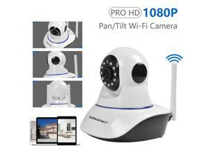 Indoor Security Camera,  Smart WiFi Home Camera 1080p | 2-Way Audio | Clear Night Vision | SDcard & Cloud Storage, Wireless Security IP Cam Pan/Tilt/Zoom for Baby, Pet, Elder