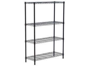 ELECSHELL 3-5 Tier iron wire - Flat Black - Heavy Duty Shelf - Wide Adjustable Rack Unit - Kitchen Storage