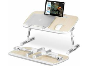 Laptop Desk for Bed,  Lap Desks Bed Trays for Eating and Laptops Stand Lap Table, with Tablet Stand Slot,Adjustable Computer Tray for Bed, Foldable Bed Desk for Laptop and Writing in Sofa