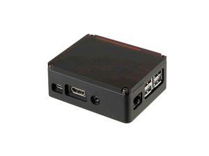 anidees Unibody Fully Aluminium Black Case for Raspberry Pi2 / Pi3, Dark Smoky Top Lid, USB Cable with on/off Switch