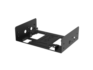 "anidees 2.5"" SSD or 3.5"" HDD drive bracket for 5.25"" drive bay, 2 pack, black AI-HDD-CAGE"