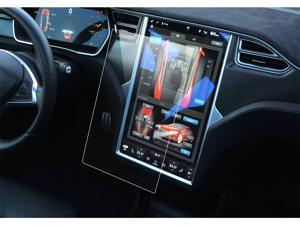 LFOTPP Car Navigation Screen Protector for 2016-2019 2020 Tesla Model X / 2013-2020 Model S 17-Inch, Tempered Glass 9H Hardness Car Infotainment Stereo Display Center Touchscreen Protective Film