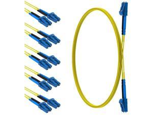 CableRack 0.5 Meter LC to LC Single Mode Fiber 9/125 Fiber Patch Cable (5-Pack)