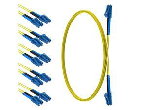CableRack 4 Meter LC to LC Single Mode Fiber 9/125 Fiber Patch Cable (5-Pack)
