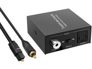 Optical-to-Coaxial or Coax-to-Optical Digital Audio Converter Adapter, Bi-Directional Coax Digital Audio Converter, Digital Coaxial to Optical Converter