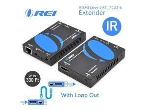 OREI 164-Feet HDMI Cables Extender Over Single CAT5//CAT6 Upto 1080p Full HD IR