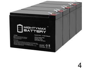 4 Pack Brand Product 420 Mighty Max Battery 12V 10AH Battery Replaces APC Back-UPS Pro 350U 420C