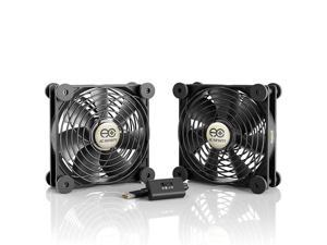 AC Infinity MULTIFAN S7 Quiet Dual 120mm USB Fan for Receiver DVR Playstation Xbox Computer Cabinet Cooling