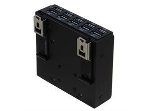 SEDNA - USB 3.1 Gen 1 (USB 3.0) 10 Port DIN-Rail Mounting Hub, for Industrial Control/Server Cabinet mounting Applications