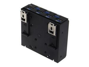 SEDNA - USB 3.1 Gen 1 (USB 3.0) 7 Port DIN-Rail Mounting Hub, for Industrial Control/Server Cabinet mounting Applications