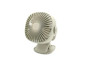 XIANGNAIZUI Portable USB Desk Fan Mini Rechargeable Cooling Fans Twin Turbo Blades Quiet 2 Speed Mode for Home Office Outdoor Color : USB White Fan