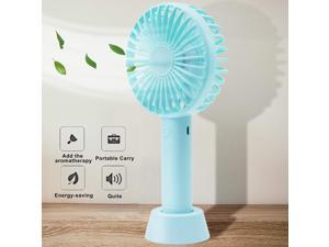 JYPHM USB Fan Mini Handheld Rechargeable Portable Pocket Fan 3 Speed Adjustable USB Rechargeable Small Portable Personal Fan for Girls Woman Home Office Outdoor Travel Black