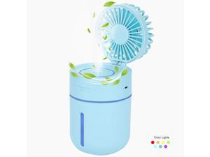 Color : White XIANGNAIZUI USB Mini Fan Portable Air Conditioner Fan 3 Speed Adjustable Air Cooler Fan with Stand Cradle for Indoor Outdoor Travel