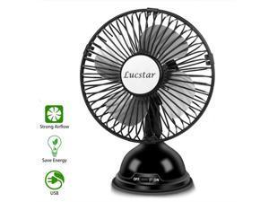 Musitelying Potable Mini Adjustable Desktop Home Office Cooler Cooling Fan Blue Mute USB Rechargeable