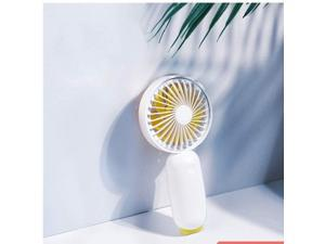 XIAOF-FEN Cute Animal USB Fan Summer 4 Gear Wind Electric Fan Outdoor Cooling Personal Fans USB Fan Color : Yellow