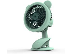 XIAOF-FEN Mini Portable Round Fan USB Handheld Button Control Electric Fan 3 Gear Wind USB Fan Color : Pink