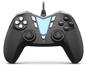 ONE Pro Wired USB Gaming Gamepad Joystick Compatible with Computer/Laptop(Windows 10/8/7/XP), Android(Phone/Tablet/TV/Box), PS3 - [Black&Silver]