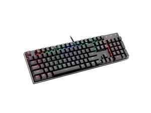 BHGFCGYUH LED Rainbow Color 104 Keys Backlight Adjustable Gaming Game USB Wired Keyboard Mouse Set PC Tablet Desktop