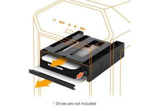 """ICY DOCK DuoSwap Tray-Less 3.5"""" SATA HDD Mobile Rack and Ultra-Slim 9.5mm Optical Disk Drive Bay for Hot Swap 5.25"""" Bay - MB971SPO-B"""