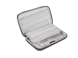 BUBM Travel Waterproof Ultra-Compact Electronics Gadget Organiser Case Bag for Data Cables, Chargers, Plugs, Memory Cards, CF Cards etc