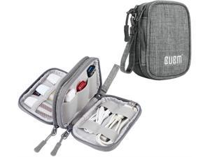 Grey BUBM Mini USB Flash Drive Sticks Carrying Case with Soft Padded Cover Easy to Carry 6-Capacity